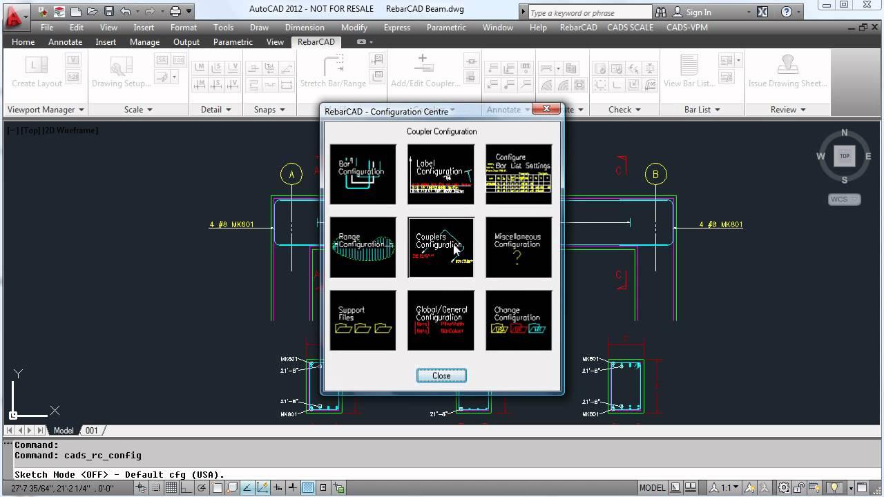 RebarCAD Video Demo 2 (Configuring RebarCAD)