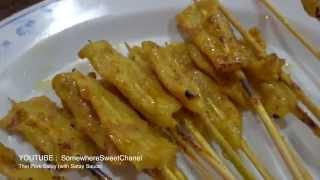 Thai Pork Satay With Satay Sauce