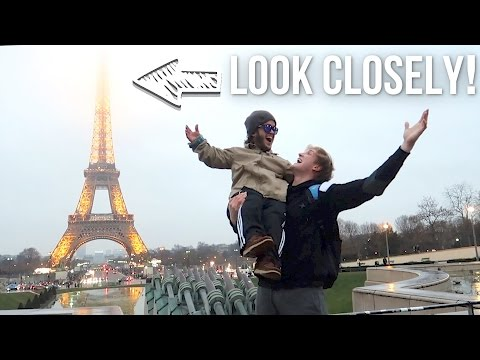 WHAT'S AT THE TOP OF THE EIFFEL TOWER!? (we climbed it!)