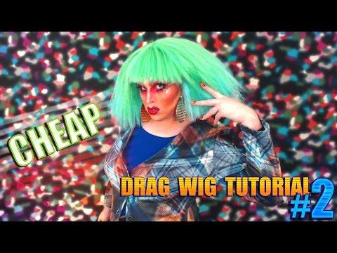 Cheap D.I.Y Drag Wig Tutorial #2
