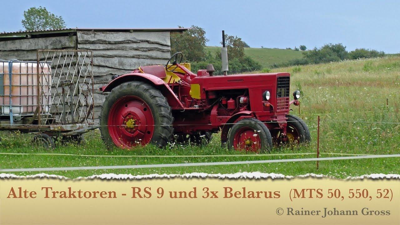 alte traktoren rs 09 molly und 3x belarus mts 50 550. Black Bedroom Furniture Sets. Home Design Ideas
