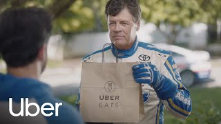 Michael Waltrip delivers UberEATS on Daytona Day