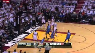 Kevin Durant monster dunk over Udonis Haslem (June 21, 2012)