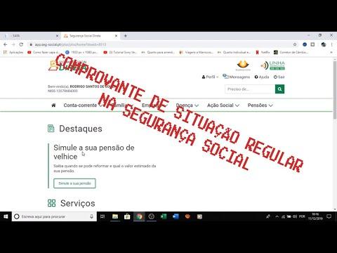 COMPROVANTE DE SITUAÇÃO REGULARIZADA NA SEGURANÇA SOCIAL