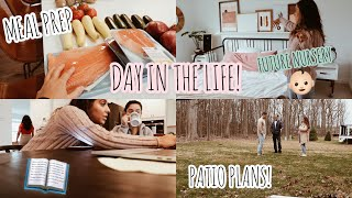 VLOG: Nursery Plans, Devotional Planning, Grocery Haul,Patio Plans