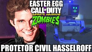 DAVID HASSELHOFF PROTETOR CIVIL EASTER EGG - Zombies In Spaceland - Infinite Warfare