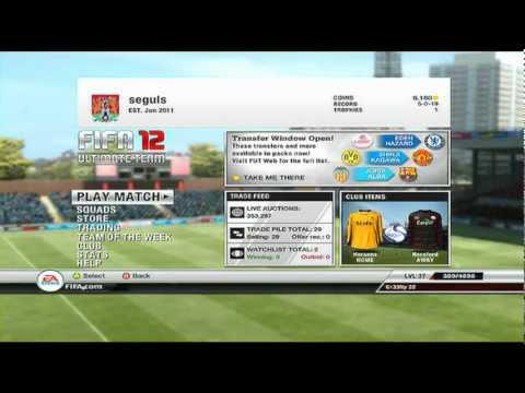 FIFA12:UT Money Making (Price Locking)