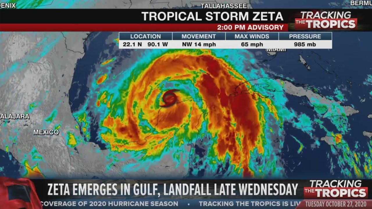 Tracking the Tropics: Tropical Storm Zeta moving over Gulf of Mexico, expected to regain hurricane s