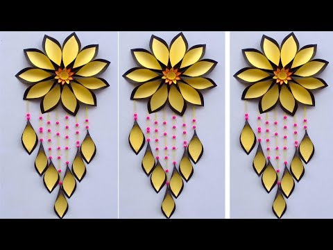 DIY Paper craft ideas ! Easy wall hanging ! room decoration ideas ! waste material craft for kids