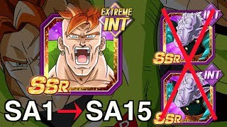 SA1 - SA15 | FREE TO PLAY - Android #16 -Terrestrial Flash | Dragon Ball Z Dokkan Battle! DBZ