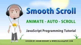 Smooth Auto Scroll Animation Tutorial JavaScript HTML CSS Programming