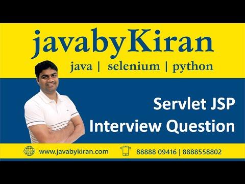 Servlet JSP Interview Question-By KIRAN SIR-Java By Kiran, Pune