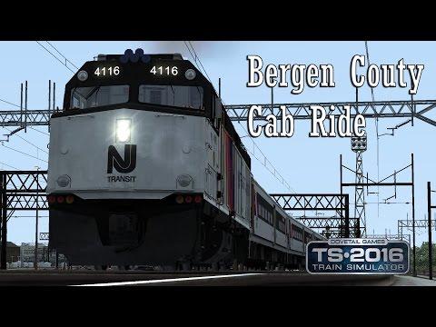 Train Simulator 2016: NJT F40PH 2CAT Hoboken, NJ to Suffern, NY (Bergen County Line) Cab Ride