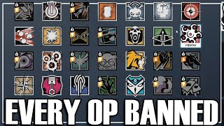Banning Every Single Op - Rainbow Six Siege (Attrition Arcade Mode)