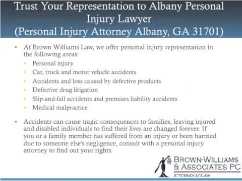 Trust Your Representation to Albany Personal Injury Lawyer (31701)
