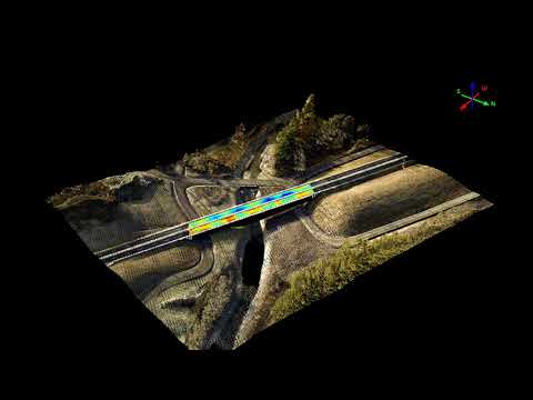 High-resolution point cloud data from helicopter merged with GPR data