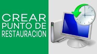 Como crear un punto de restauracion en windows 7 8 Y10  100 % recomendado HD 2015