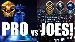 Starcraft 2 - Pro vs Joes!! (One vs Three?!)