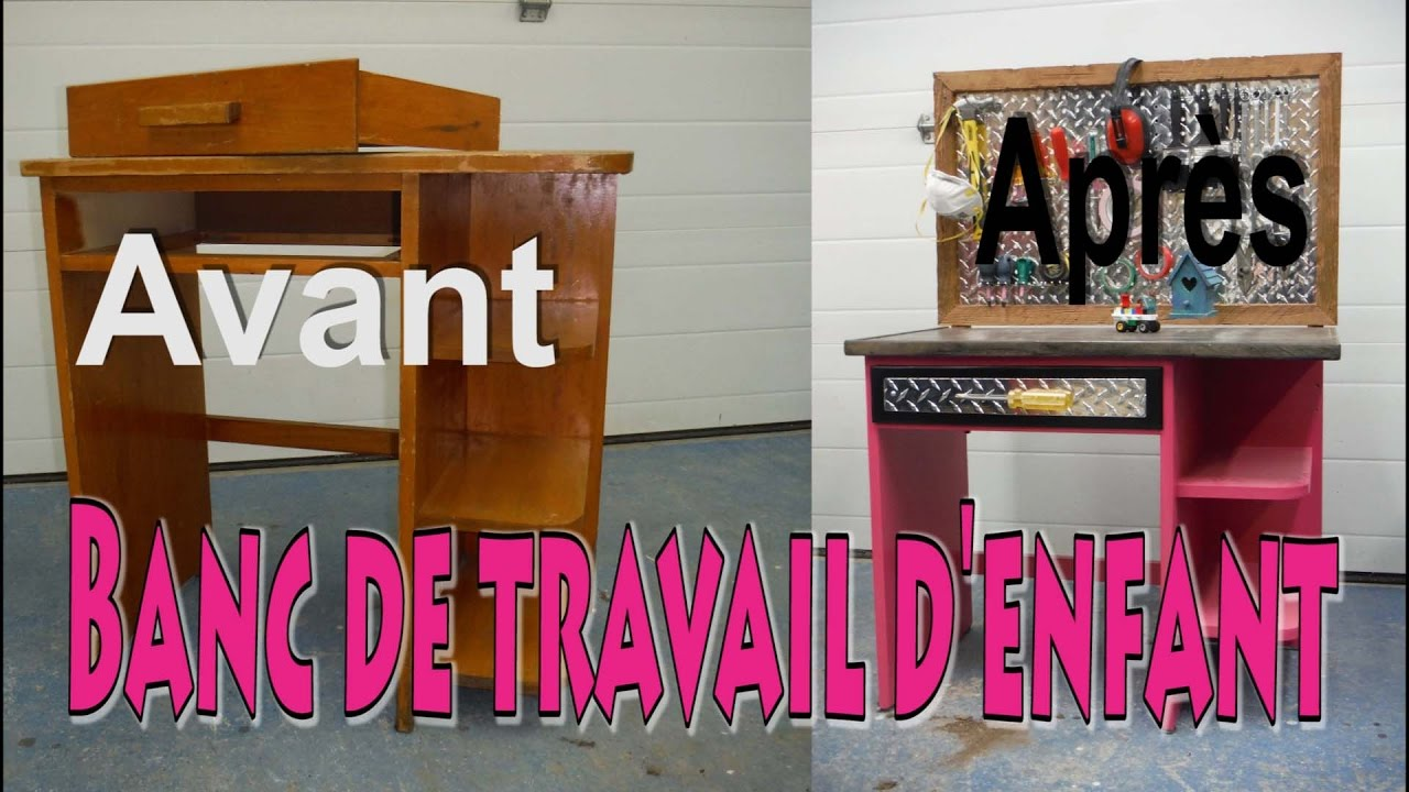 tabli de travail pour enfant youtube. Black Bedroom Furniture Sets. Home Design Ideas