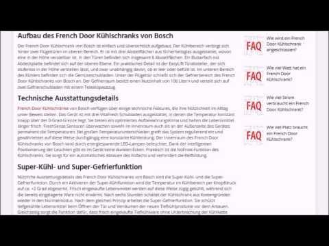 French Door Kühlschrank Bosch | Tests, Kaufempfehlung & Ratgeber ...