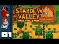Let's Play Stardew Valley Multiplayer [v1.3 Beta] - PC Gameplay Part 1 - Old McWander Had A Farm...