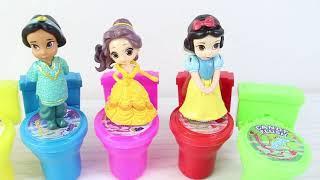 Klozet Şeklinde Şekerler Prensesler Renkleri Öğreniyor Klozet Şekerlerin İçerisinden Ne Çıkıyor