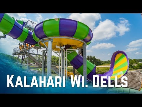 All Big Waterslides at Kalahari Resort Wisconsin Dells, USA (2017 Edition)