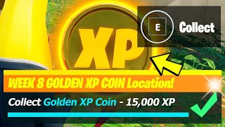 Golden XP Coin LOCATION & All Week 8 XP Coins - Fortnite Season 5 Week 8
