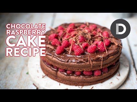 Raspberry Dark Chocolate Cake Recipe!