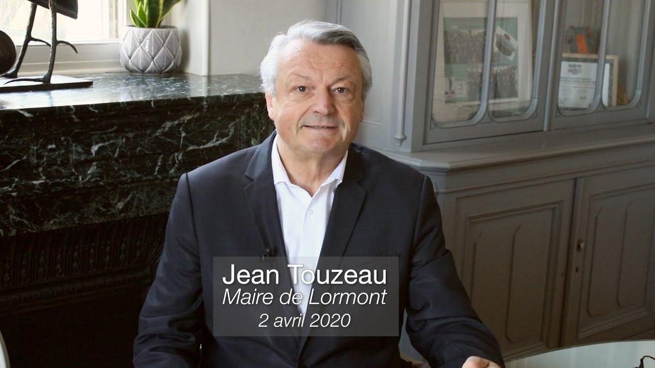 Jean Touzeau, maire de Lormont s'adresse aux lormontais.