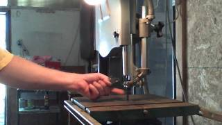 Cutting Titanium With A Band Saw.