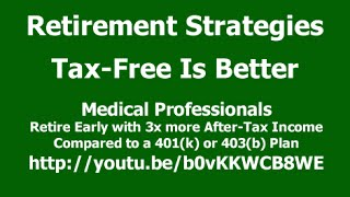 Medical Professionals, Retire Early with 3x The After-Tax Income vs Your 401(k) or 403(b) plan