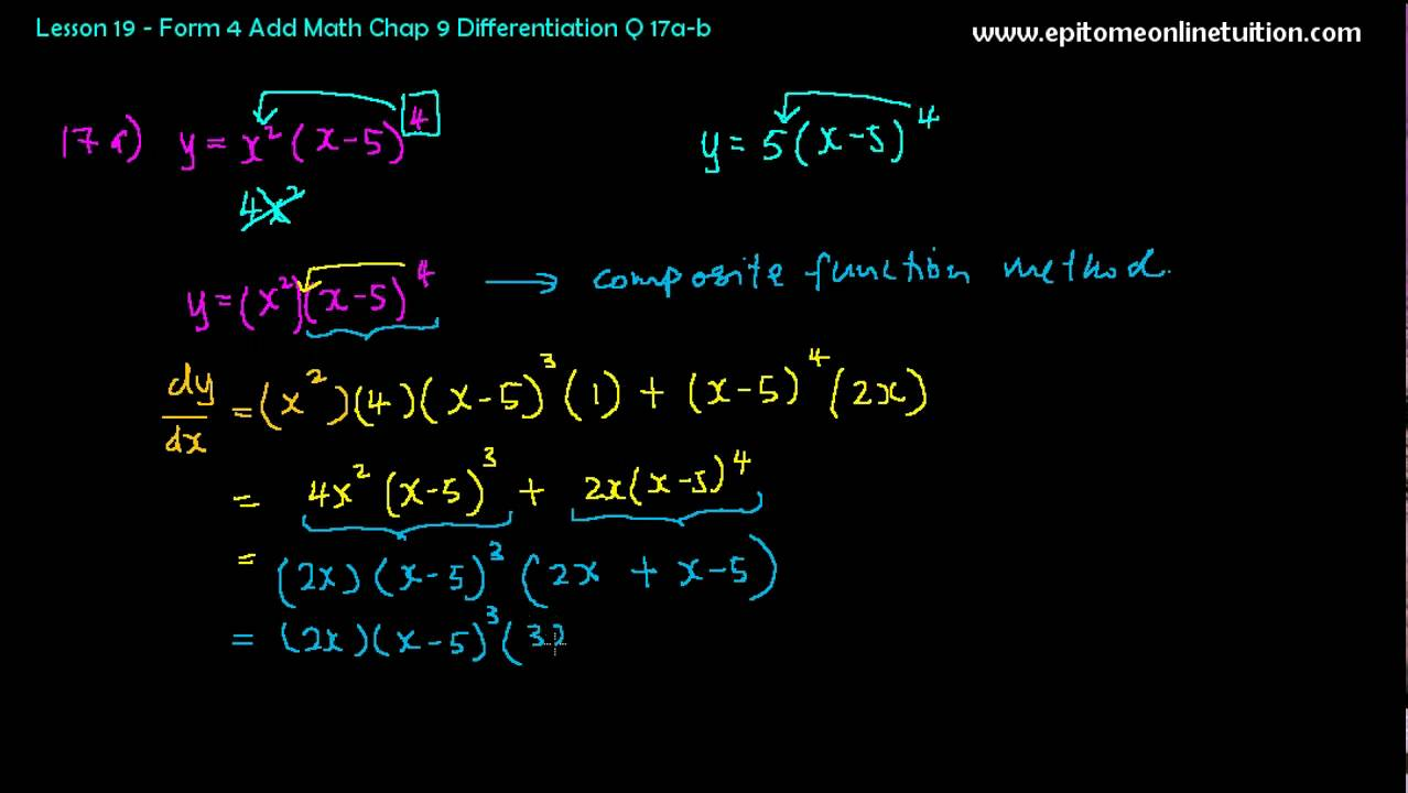 Add Math Techniques of Differentiation 1 - YouTube