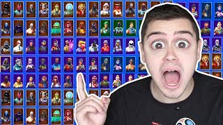 I SHOW ALL MY FORTNITE SKINS ! (rare)
