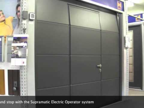 Hormann LPU40 L Ribbed Sectional Door & Hormann LPU40 L Ribbed Sectional Door - YouTube