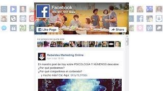 Cómo insertar facebook en mi web wordpress