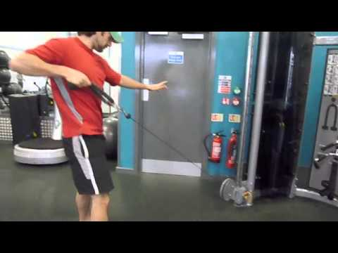 Workout For Golf – Squats With Cable Rows