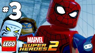 LEGO Marvel Super Heroes 2 Walkthrough Part 3 Spider-Man and White Tiger Battle Doctor Octopus Boss