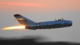 MiG-17 Afterburner Glow in the Twilight | Randy Ball