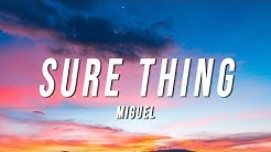 Miguel - Sure Thing (WiSkiM Remix) [Lyrics]