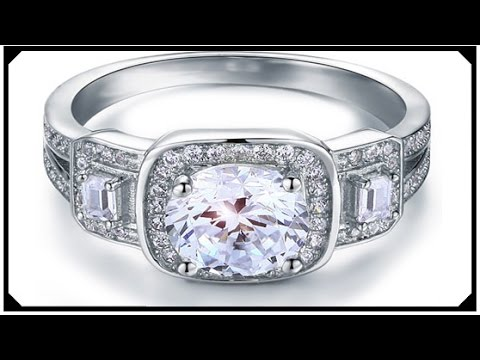 White Gold Ring Cheap Diamond Jewelry Anakonda LAB Engagement Silver 925