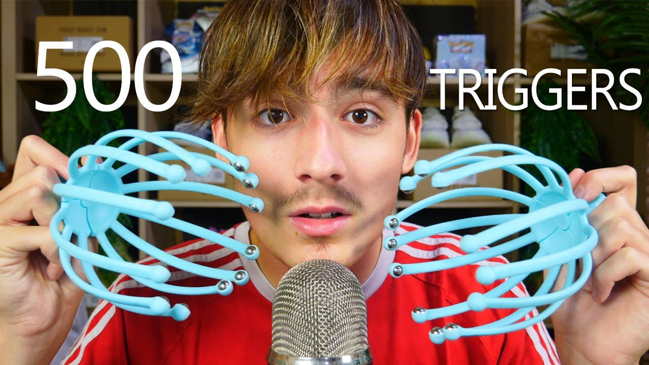 ASMR 500 TRIGGERS IN 5 MINUTES