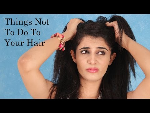 Things you should never do to your hair