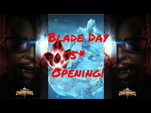 5* Crystal Opening! Blade Day Hype! Live! - Marvel Contest Of Champions