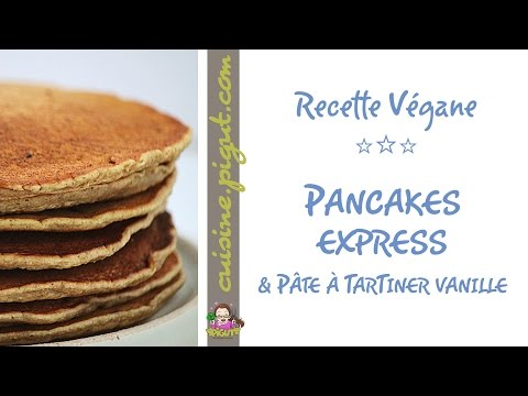 pancakes-véganes-&-pâte-à-tartiner-vanille