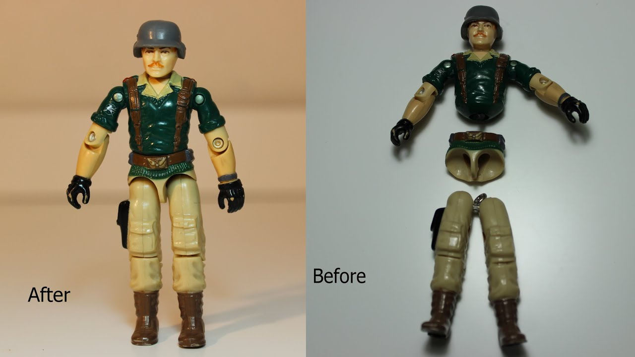 How To Fix A GIJoe Action Force Figure Using Rainbow Loom Bands