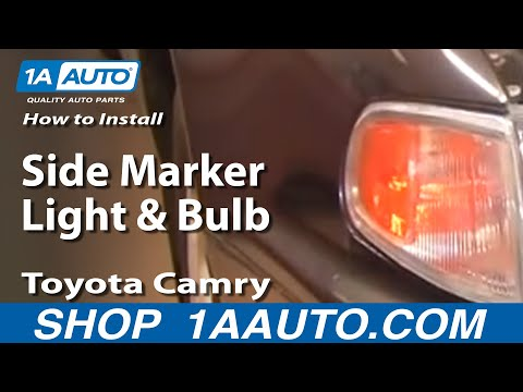 How To Replace Corner Lights 95 96 Toyota Camry Youtube