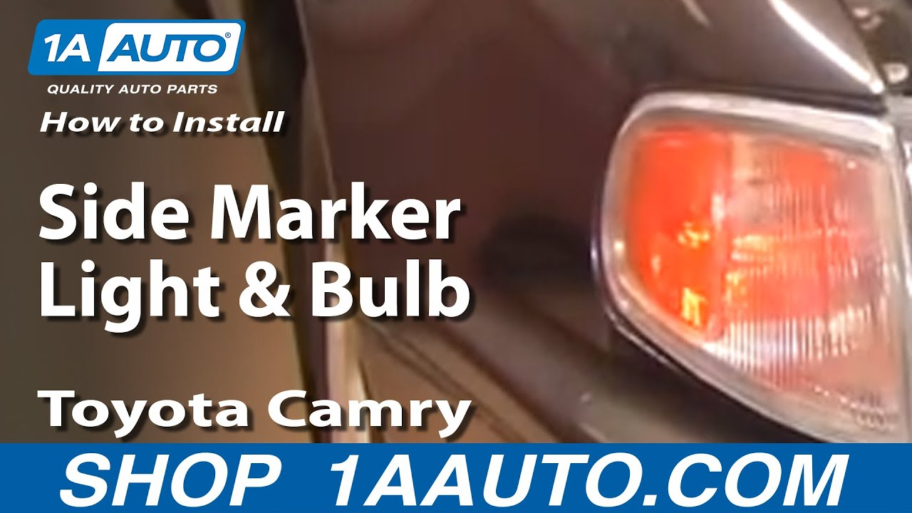How to Replace Corner Lights 95-96 Toyota Camry - YouTube