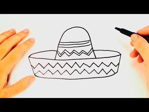 Cómo dibujar un Sombrero Mexicano paso a paso | Dibujo fácil de ...