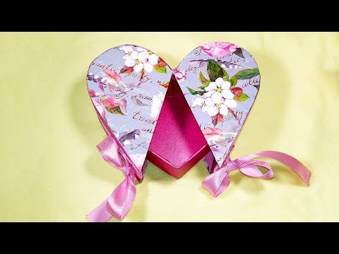 DIY Heart shaped gift box! Gift box in the shape of heart! Valentine's ideas
